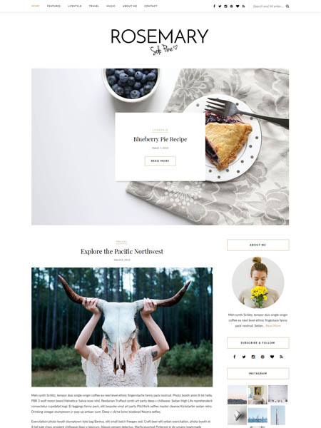 rosemary 20+ Best Personal WordPress Blog Themes For Corporate, Fashion, Travel, And Personal Blogs