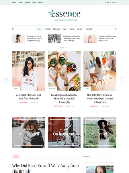 the-essence 18 Best Minimalist WordPress Themes For Business, Portfolio, and Blogs