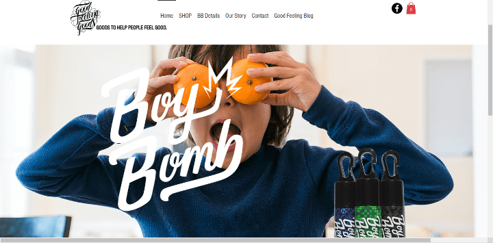 Good-Feeling-Goods 25 Stunning Examples of Sites Using Wix