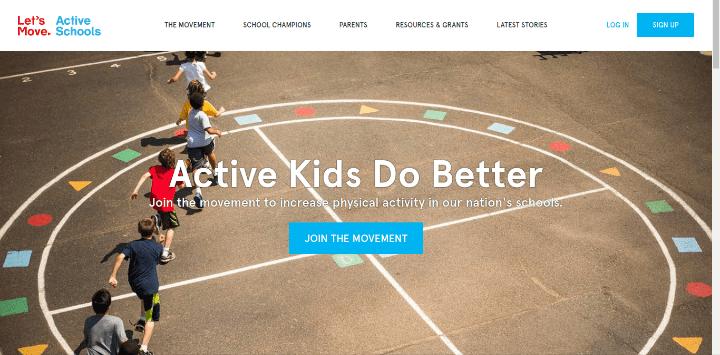 Lets-Move-Active-Schools 25 Examples of Unique Sites Using Squarespace