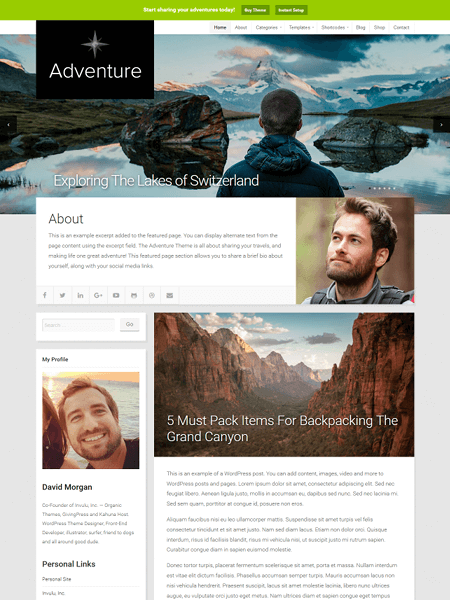 adventure 20 Adventurous WordPress Travel Blog Themes for 2017