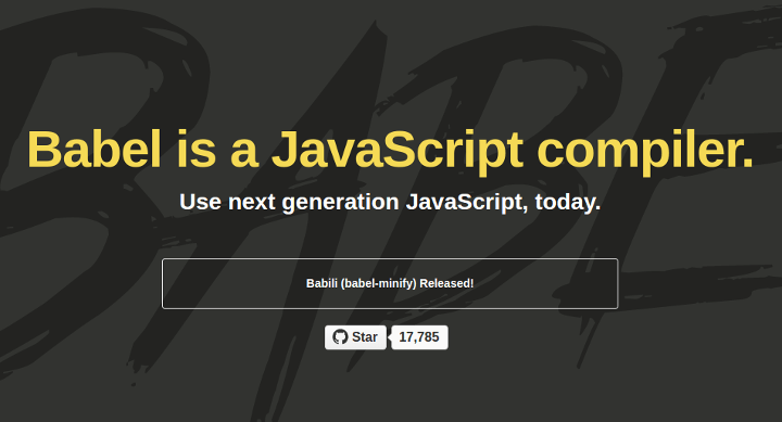 babel 15 Top Free JavaScript Libraries and Plugins for Web Developers