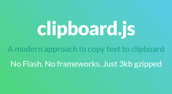 clipboard-js 15 Top Free JavaScript Libraries and Plugins for Web Developers