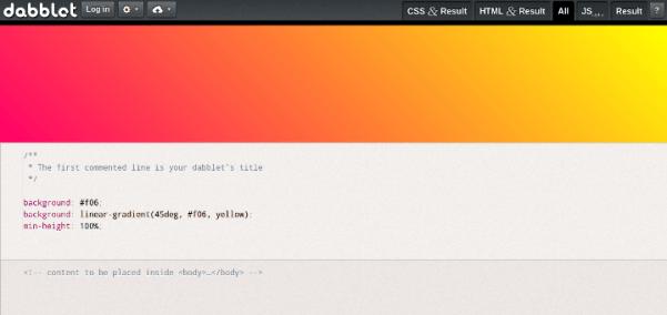 dabblet 15 Useful Code Sharing Websites for Web Developers