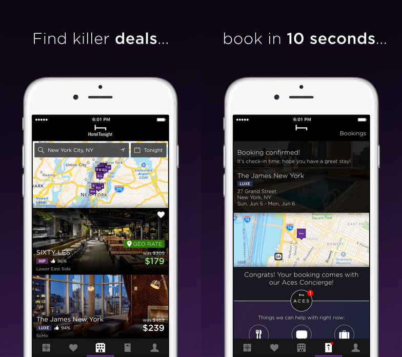 hoteltonight 12 Travel Apps that are Useful and Beautiful