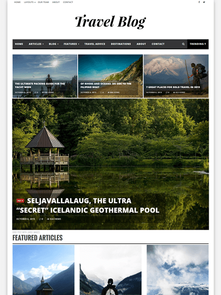 infra 20 Adventurous WordPress Travel Blog Themes for 2017