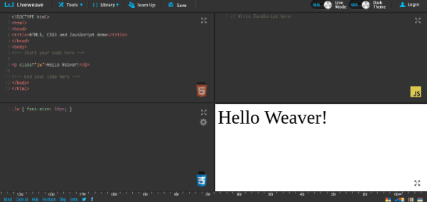 liveweave 15 Useful Code Sharing Websites for Web Developers