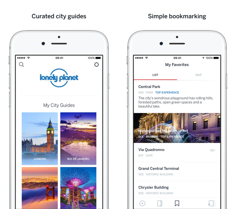 lonely-planet 12 Travel Apps that are Useful and Beautiful