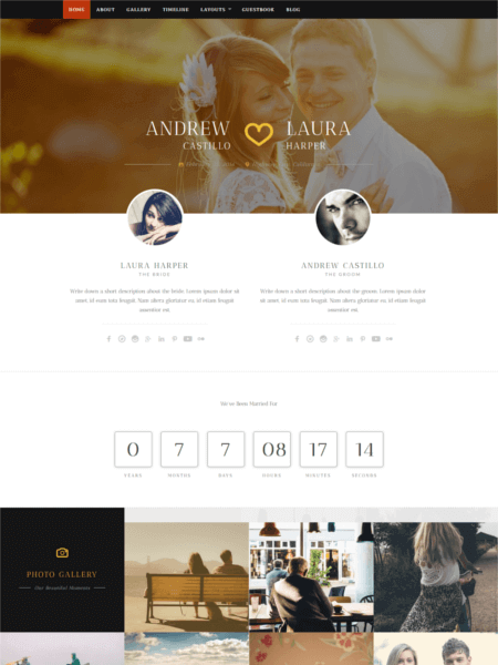 neeqah 20 Stunning WordPress Wedding Themes for 2017