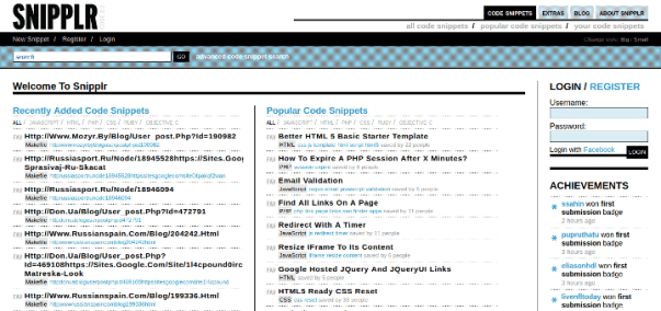 snipplr 15 Useful Code Sharing Websites for Web Developers