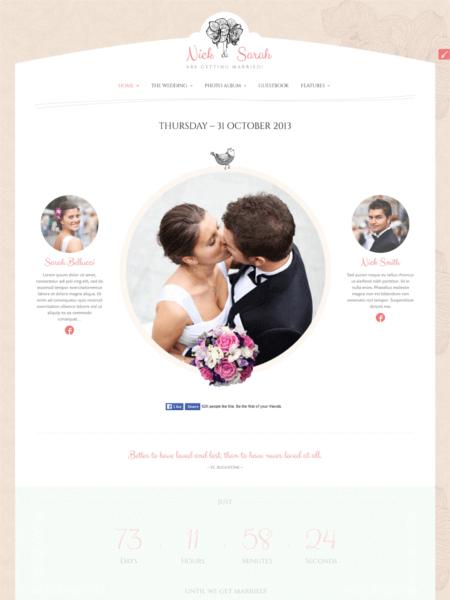 theweddingday 20 Stunning WordPress Wedding Themes for 2017