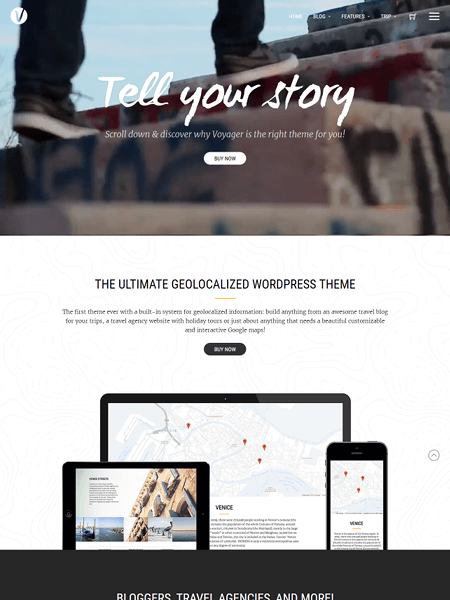 voyager 20 Adventurous WordPress Travel Blog Themes for 2017