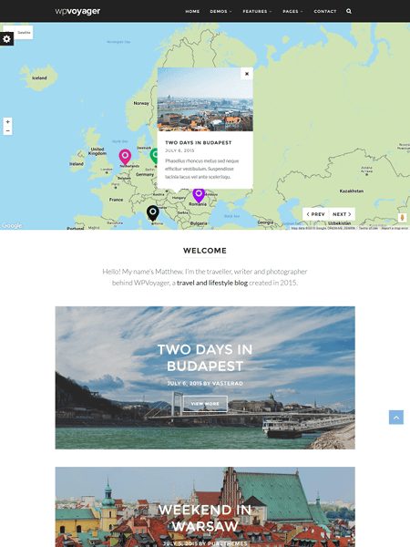 wpvoyager 20 Adventurous WordPress Travel Blog Themes for 2017