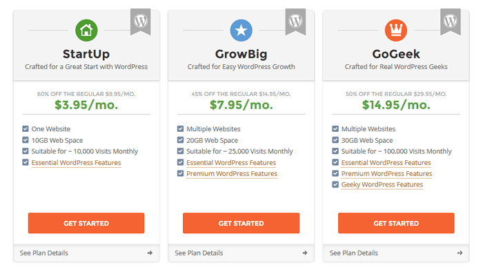 choose-plan How to Start a WordPress Blog – The Definitive Guide