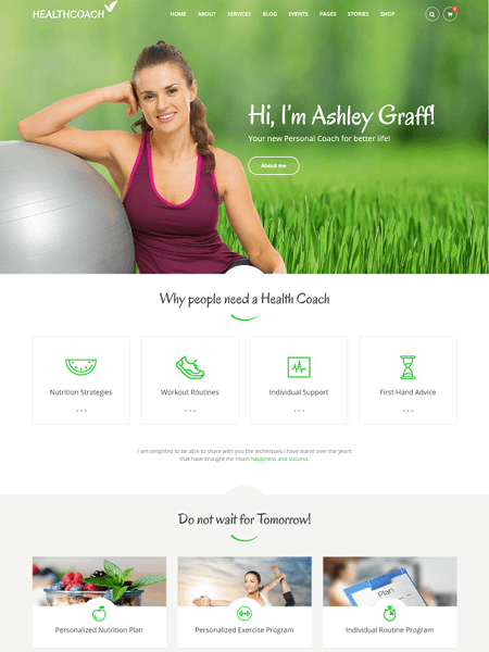 healthcoach 22 of the best Yoga & Fitness WordPress Themes for 2017