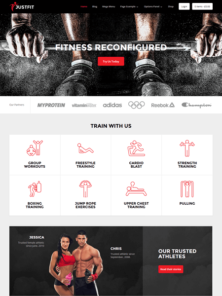 justfit 11 Powerful Sports & Fitness WordPress Themes for 2017