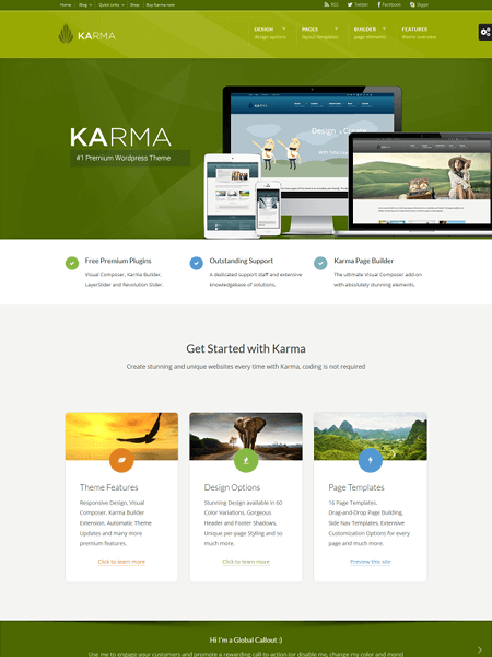 karma 22 of the best Yoga & Fitness WordPress Themes for 2017