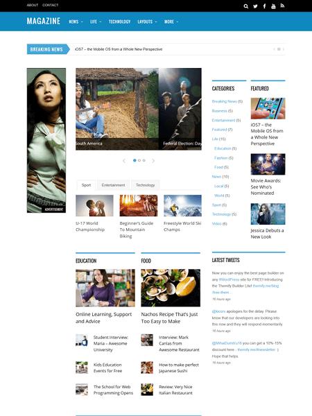 magazine 30 Newsworthy Magazine WordPress Themes for Blogs & Magazines