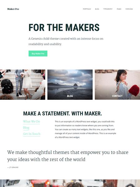 maker 30 Newsworthy Magazine WordPress Themes for Blogs & Magazines