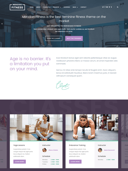 meridian-fitness 11 Powerful Sports & Fitness WordPress Themes for 2017