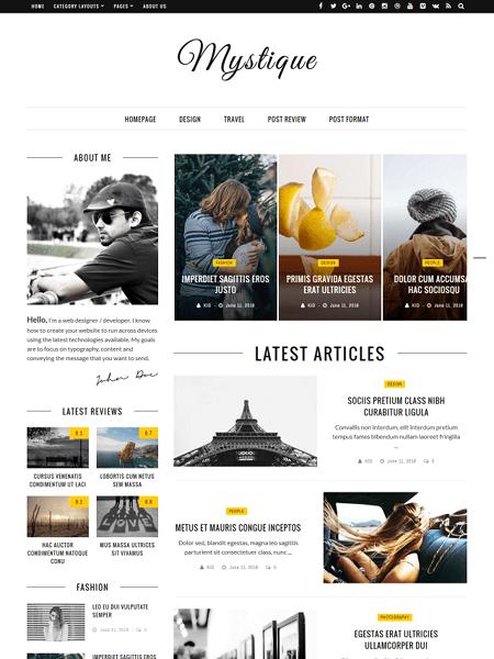 mystique 30 Newsworthy Magazine WordPress Themes for Blogs & Magazines