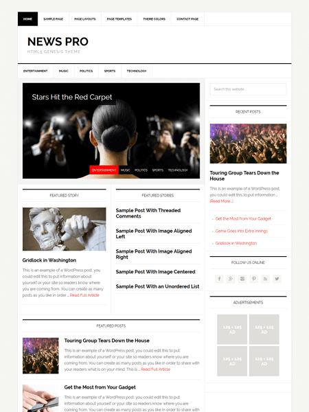 news 30 Newsworthy Magazine WordPress Themes for Blogs & Magazines