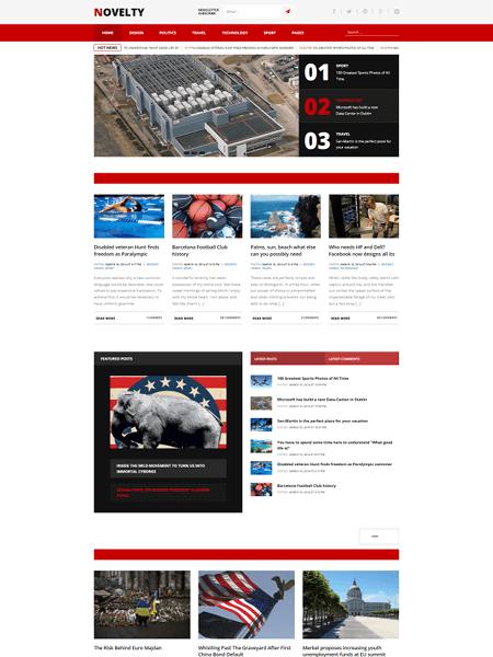 novelty 30 Newsworthy Magazine WordPress Themes for Blogs & Magazines