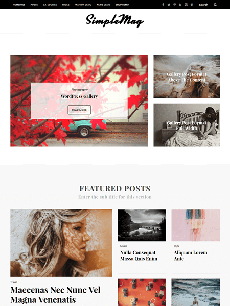 simplemag 30 Newsworthy Magazine WordPress Themes for Blogs & Magazines