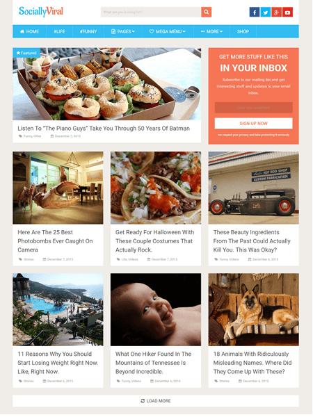 sociallyviral 30 Newsworthy Magazine WordPress Themes for Blogs & Magazines