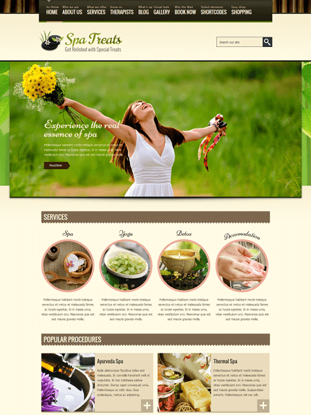 spa-treats 22 of the best Yoga & Fitness WordPress Themes for 2017