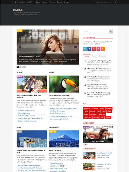 spartan 30 Newsworthy Magazine WordPress Themes for Blogs & Magazines