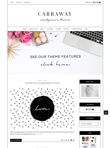 the-carraway 16 Feminine WordPress Themes for 2017