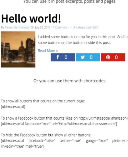 ultimate-social 8 Best Social Sharing Plugins Compared