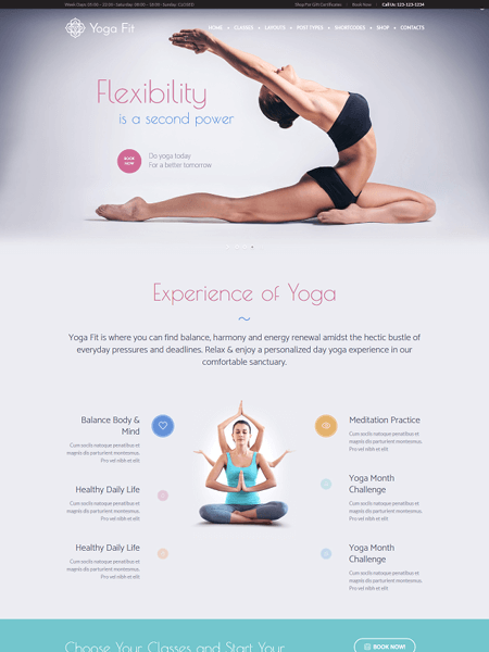 yoga-fit 22 of the best Yoga & Fitness WordPress Themes for 2017