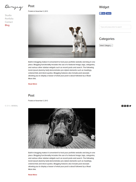 dorsey 18 Best Minimalist WordPress Themes For Business, Portfolio, and Blogs