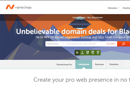 namecheap 15 Best Black Friday / Cyber Monday Deals for Designers and Developers