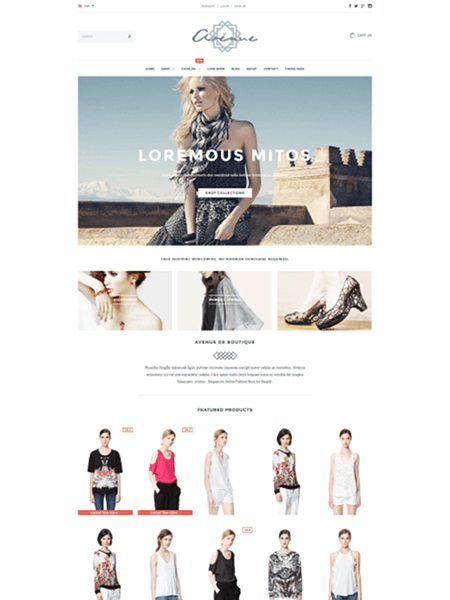 avenue 15 Top Shopify Themes for Your Online Store