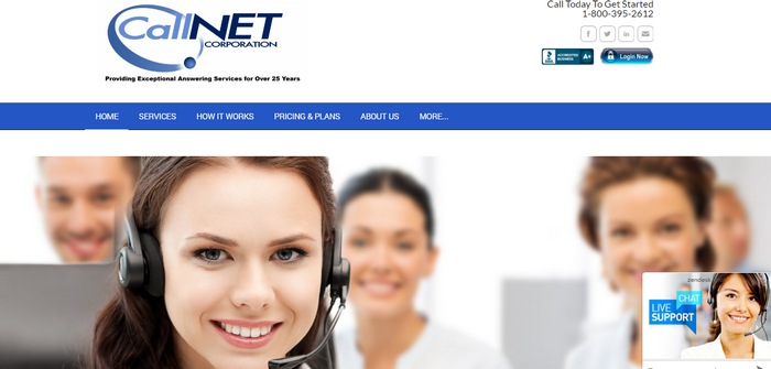 callnet 15+ Best Examples Of Websites Built With Weebly