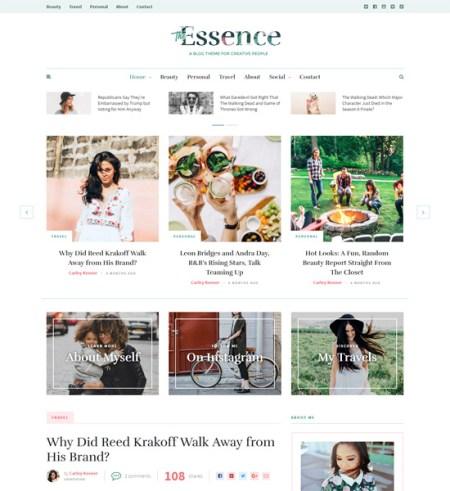 essense 8 Best Clean WordPress Themes For Blogging & Personal Websites