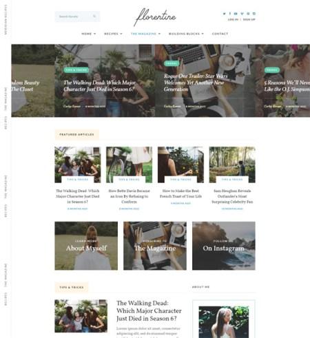 florentine 8 Best Clean WordPress Themes For Blogging & Personal Websites