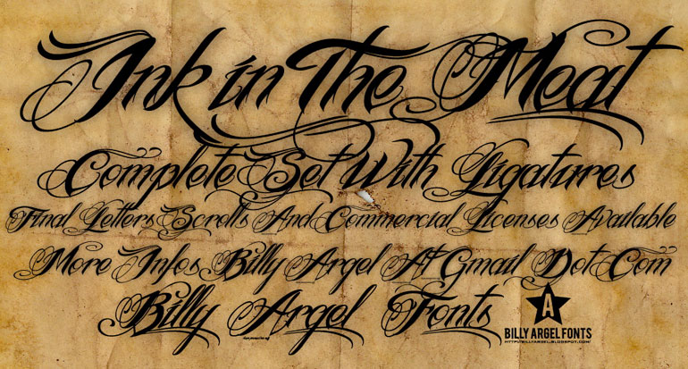ink-meat 25 Free Tattoo Fonts with Style