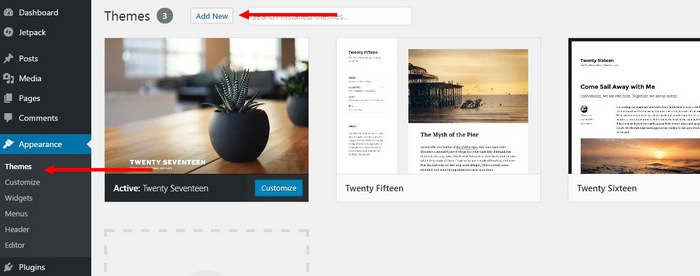 install-theme-step-1 How To Make A Website with WordPress – The Ultimate Guide