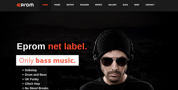 Emprom 13 of the Beautiful WordPress Themes for Musicians & Artists