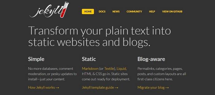 jekyll Top 15 Blogging Platforms – A Detailed Comparison