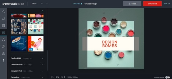 shutterstock-editor-2 8 Best Web-Based Photo Editors For Online Marketers