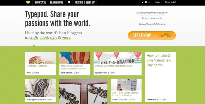 typepad Top 15 Blogging Platforms – A Detailed Comparison