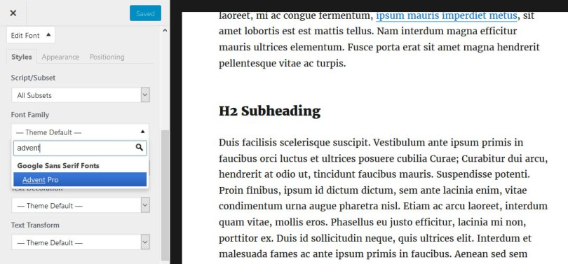 pick-font-in-customizer 6 Easy Ways to Add Google Fonts to WordPress for Custom Typography