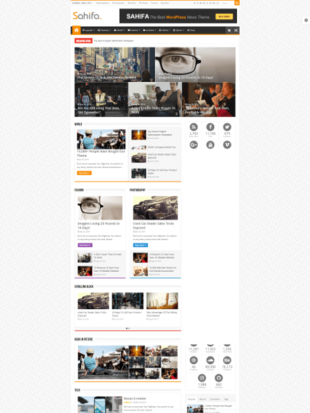 Sahifa 16+ Best AdSense Optimized WordPress Themes