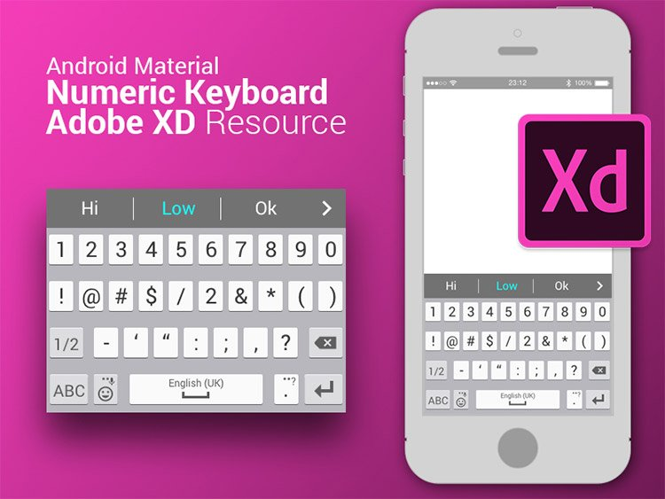 11-android-keyboard-xd 22 Incredible Adobe XD Freebies For UI Designers
