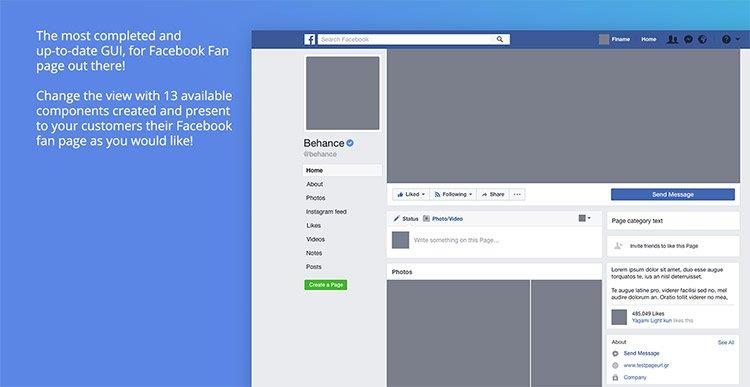 14-facebook-gui-page 22 Incredible Adobe XD Freebies For UI Designers